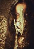 Μάτια πίσω από τη μάσκα σιδήρου Στοκ φωτογραφίες με δικαίωμα ελεύθερης χρήσης