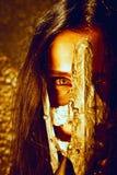 Μάτια πίσω από τη μάσκα σιδήρου Στοκ φωτογραφία με δικαίωμα ελεύθερης χρήσης