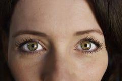 Μάτια πορτρέτου γυναικών Στοκ εικόνες με δικαίωμα ελεύθερης χρήσης