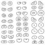 μάτια που τίθενται διανυ&sigm ελεύθερη απεικόνιση δικαιώματος