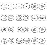 μάτια που τίθενται διανυ&sigm διανυσματική απεικόνιση