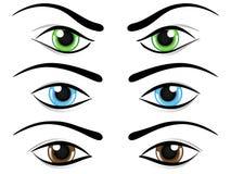 μάτια που τίθενται διανυσματική απεικόνιση