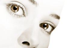 μάτια σαγηνευτικά Στοκ Φωτογραφία