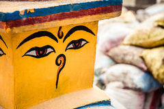 Μάτια του Βούδα στο stupa Στοκ Εικόνες