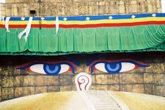 Μάτια του Νεπάλ στοκ εικόνες με δικαίωμα ελεύθερης χρήσης
