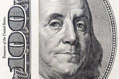 Μάτια του Benjamin Franklin ` s από έναν λογαριασμό εκατό-δολαρίων Το πρόσωπο του Benjamin Franklin στο τραπεζογραμμάτιο εκατό δο στοκ εικόνα με δικαίωμα ελεύθερης χρήσης