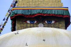 Μάτια φρόνησης του Βούδα Στοκ Φωτογραφία