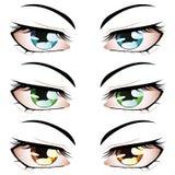 Μάτια ύφους Anime Στοκ Εικόνες