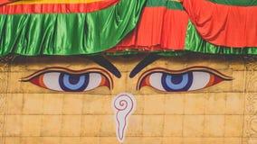 Μάτια Boudha στο Νεπάλ Στοκ Εικόνα