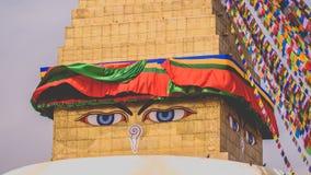 Μάτια Boudha στο Νεπάλ Στοκ εικόνες με δικαίωμα ελεύθερης χρήσης
