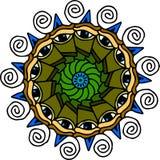 Μάτια Mandala στο άσπρο υπόβαθρο Στοκ φωτογραφίες με δικαίωμα ελεύθερης χρήσης