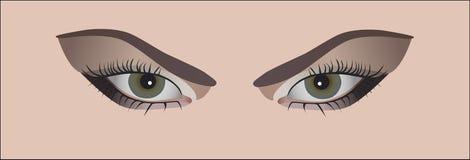 μάτια womans Στοκ Φωτογραφία