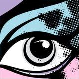 μάτι ανασκόπησης Στοκ φωτογραφία με δικαίωμα ελεύθερης χρήσης