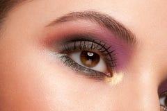 Μάτι γυναικών με το makeup στοκ εικόνες