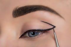 Μάτι γυναικών με όμορφο Makeup στοκ φωτογραφία