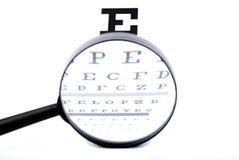 μάτι διαγραμμάτων πιό magnifier Στοκ Εικόνα