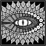 Μάτι δράκων ή φιδιών μαύρο λευκό διάνυσμα απεικόνιση αποθεμάτων