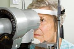μάτι εξέτασης που έχει τη γ&up Στοκ Εικόνες