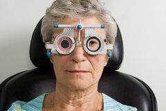 μάτι εξέτασης που έχει τη γ&up Στοκ φωτογραφίες με δικαίωμα ελεύθερης χρήσης