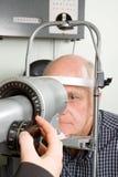 μάτι εξέτασης που έχει τον &e Στοκ φωτογραφία με δικαίωμα ελεύθερης χρήσης