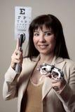 μάτι εξοπλισμού γιατρών στοκ φωτογραφία