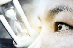 Μάτι κινηματογραφήσεων σε πρώτο πλάνο των ασιατικών γυναικών Στοκ Εικόνες