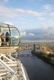 μάτι Λονδίνο πόλεων Στοκ εικόνες με δικαίωμα ελεύθερης χρήσης