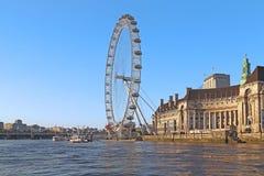 μάτι Λονδίνο UK Στοκ φωτογραφίες με δικαίωμα ελεύθερης χρήσης