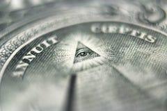 Μάτι δολαρίων Στοκ εικόνα με δικαίωμα ελεύθερης χρήσης