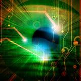 Μάτι που ανιχνεύεται από το λογισμικό ασφάλειας απεικόνιση αποθεμάτων