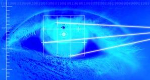 μάτι που ανιχνεύεται Στοκ εικόνα με δικαίωμα ελεύθερης χρήσης