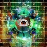 Μάτι σε ένα χρωματισμένο υπόβαθρο Στοκ εικόνες με δικαίωμα ελεύθερης χρήσης