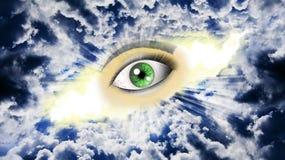 Μάτι στον ουρανό στοκ φωτογραφία
