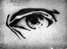 Μάτι στον τοίχο Στοκ Εικόνες