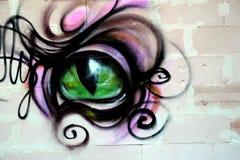 Μάτι στο τουβλότοιχο Στοκ φωτογραφία με δικαίωμα ελεύθερης χρήσης