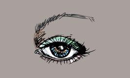 Μάτι τέχνης γραφικό Στοκ εικόνα με δικαίωμα ελεύθερης χρήσης