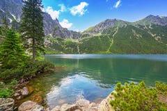 Μάτι της λίμνης θάλασσας στα βουνά Tatra Στοκ Εικόνα