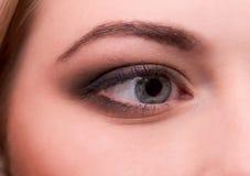 Μάτι της νέας γυναίκας Στοκ φωτογραφία με δικαίωμα ελεύθερης χρήσης