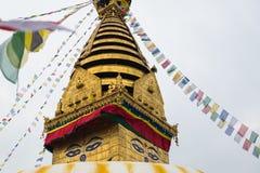 Μάτι του Βούδα σε Swayambhunath, Νεπάλ Στοκ Φωτογραφία