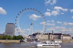 Μάτι του Λονδίνου - Λονδίνο UK Στοκ φωτογραφία με δικαίωμα ελεύθερης χρήσης