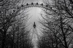 Μάτι του Λονδίνου πίσω από τους κλάδους Στοκ φωτογραφίες με δικαίωμα ελεύθερης χρήσης