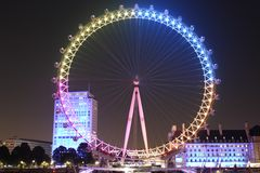 Μάτι του Λονδίνου, πλευρά ποταμών, Γουέστμινστερ Στοκ φωτογραφίες με δικαίωμα ελεύθερης χρήσης