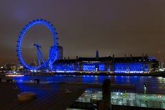 Μάτι του Λονδίνου στη νύχτα 2 Στοκ φωτογραφία με δικαίωμα ελεύθερης χρήσης