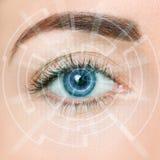 Μάτι του μέλλοντος στοκ φωτογραφία με δικαίωμα ελεύθερης χρήσης