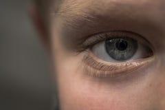 Μάτι του νέου αγοριού Στοκ εικόνα με δικαίωμα ελεύθερης χρήσης