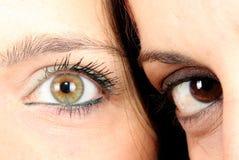 Μάτι δύο Στοκ εικόνα με δικαίωμα ελεύθερης χρήσης