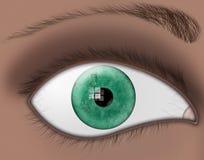 μάτι DNA χρώματος Στοκ εικόνα με δικαίωμα ελεύθερης χρήσης