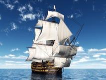 μάχης μπλε χρωμάτων βαθιά ναυαρχίδων hms trafalgar νίκη ουρανού Λόρδου Nelson πλούσια διανυσματική απεικόνιση