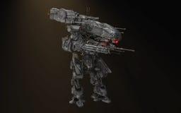 Μάχη ρομπότ mech διανυσματική απεικόνιση