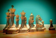 Μάχη σκακιού Στοκ Φωτογραφίες
